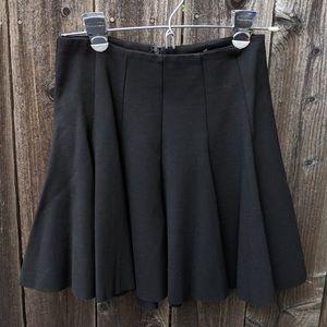 ASTR Black Ponte- Knit Pleated Skater Skirt